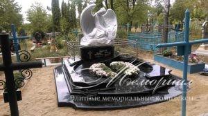 Ритуальный авторский памятник с ангелом